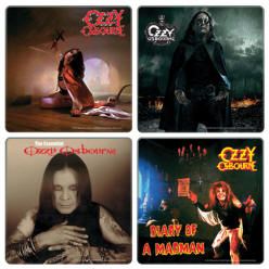 Ozzy Osbourne Album Covers Four Piece Wood Coaster Set
