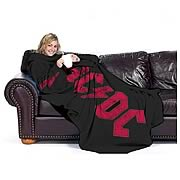 AC/DC Fleece Blanket with Sleeves
